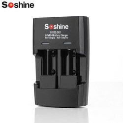 Soshine Li-FePO4 RCR 123 / CR2 Battery Intelligent Rapid Charger Rechargeable Battery Charger for 16340 15266 14250 Battery