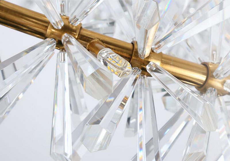 Anel design moderno lustre de cristal lâmpada