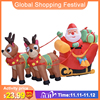 1.8M Christmas Santa Reindeer Sled Inflatable LED Glowing Figure Outdoor Yard Lawn New Year 2021 Merry Christmas Decoration
