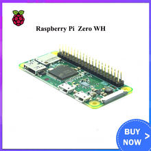 Raspberry Pi Zero WH con WiFi incorporado y Bluetooth, 1GHz, 512Mb de RAM, con 40 pines presoldados, cabezales GPIO Pi Zero W