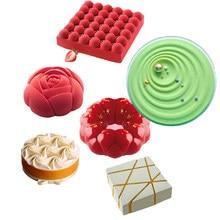 Plusieurs Types d'outils de décoration de gâteaux, moule en Silicone antiadhésif, Mousse de fête, Dessert, cuisson, pâtisserie, ustensiles de cuisine