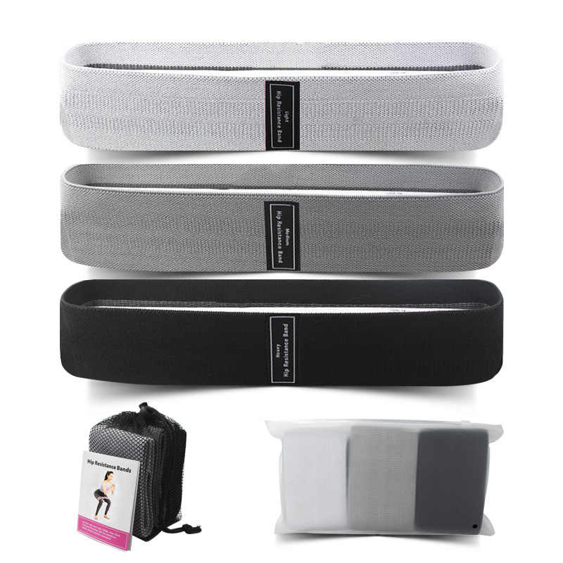 3 pcs fabric Resistance Bands booty Bands Fitness Rubber Expander Elastic yoga