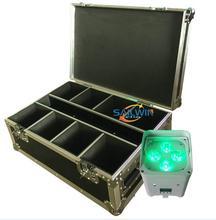 Freedoom 6X18W 6w1 RGBAW UV DMX zasilany z baterii APP sterowane telefonem LED lampa par oświetlenie dj na wydarzenie z PowerCon na koncert tanie tanio SAILWIN LIGHT AUDIO Etap światła Pokrętło przełącznika Wolnostojące Polished chrome ROHS Profesjonalne Aluminium
