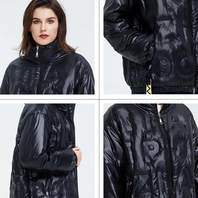 ZIAI 2020 여성 자켓 봄 가을 짧은 코트 다크 레드 따뜻한 방수 파카 칼라 최고 품질 숙녀 아웃웨어 핫 ZR-3019