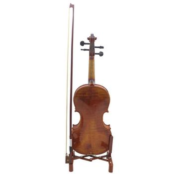 Portable Violin Stand Fold-able Musical Instrument Stand with Holder for Violin Ukulele Guitar Stringed Instruments Part portable folding ukulele stand holder violin guitar bracket musical instrument display stand holder