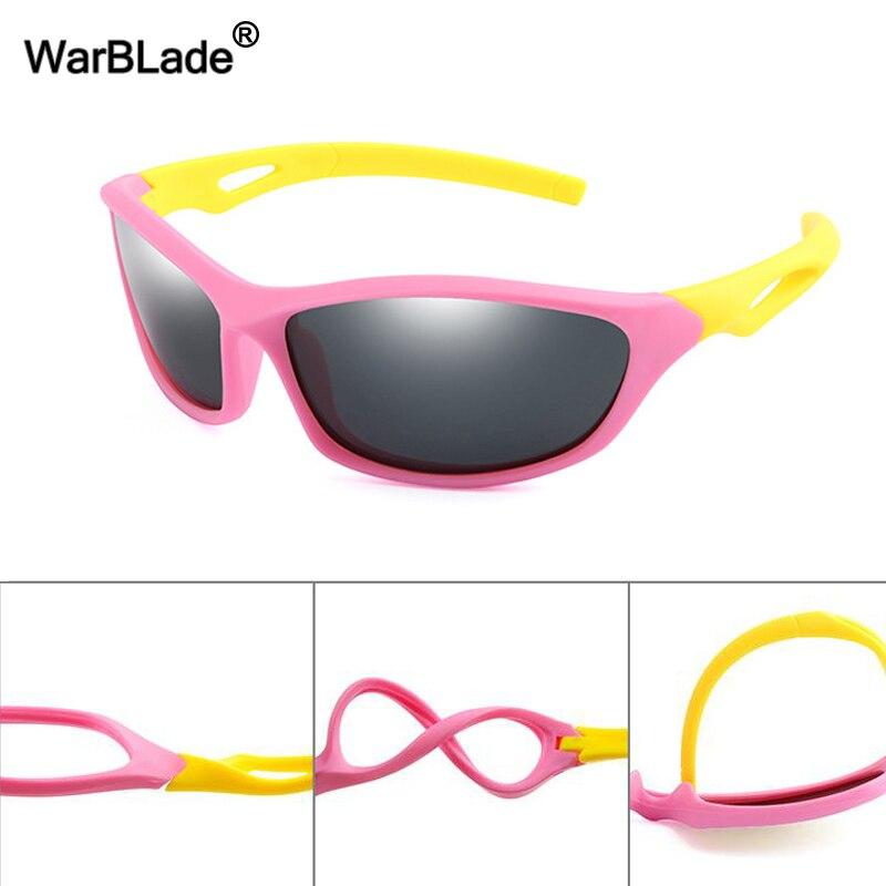 Wbl novas crianças polarizadas óculos de sol legal meninos menina esporte óculos de segurança silicone crianças óculos de sol bebê máscaras uv400