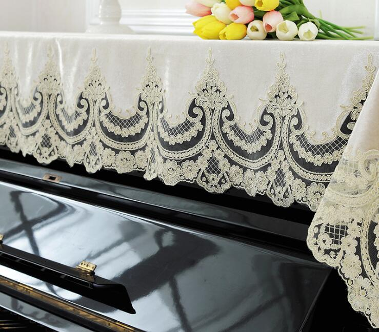 90x200cm Lace Piano Cover Piano Cloth Dust Proof Cover Home Decoration Textile Wedding Gift