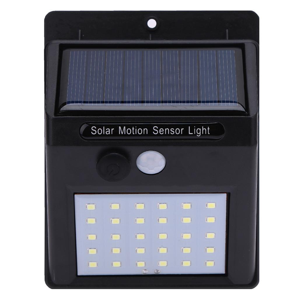 30 LED Outdoor Solar Wall Lamp Waterproof PIR Motion Sensor Garden Light Solar Powered Spotlight Sunlight Street Light