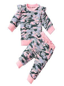 Baby Clothing Baby-Boys-Girls Pullover Pants Outfits-Set Infant Kids Cotton Fashion Winter