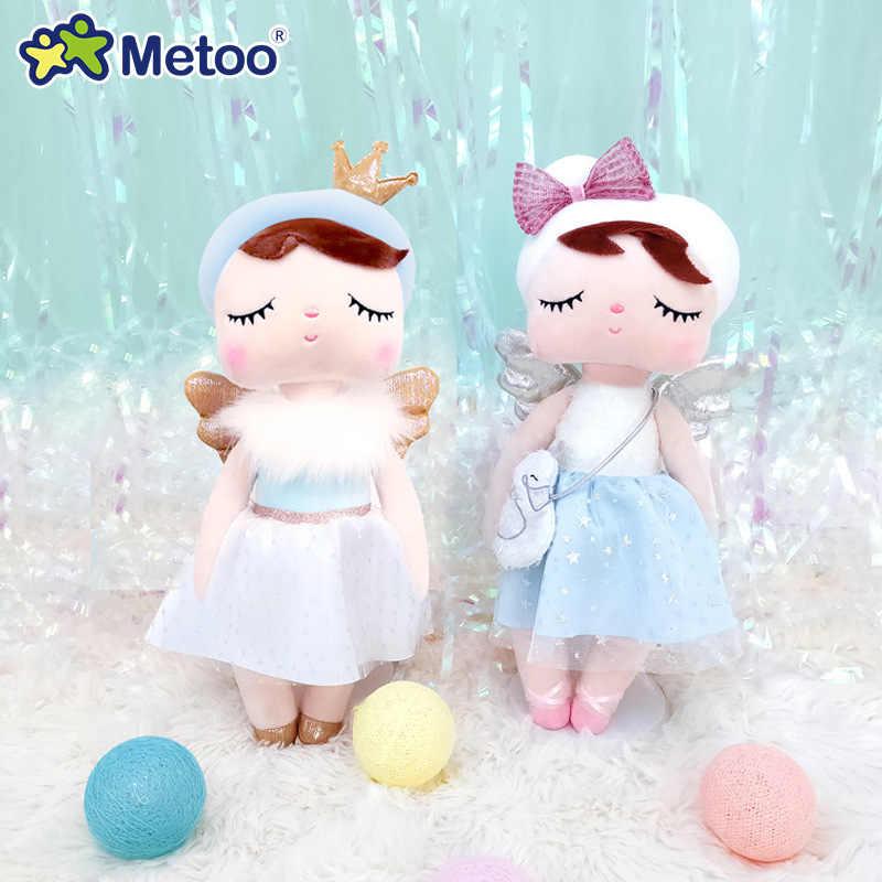 Metoo bebek dolması oyuncaklar peluş hayvanlar çocuk oyuncakları kızlar için çocuk erkek bebek peluş oyuncaklar Angela tavşan yumuşak oyuncaklar doğum günü hediyesi