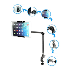 Tablet Stand Flexible 360 Rotating Adjustable Long Arm Tablet Holder Bed Table Tablet Stand Bracket for iPad 1 2 3 4 5 mini air adjustable tablet stand holder portable fold up stand holder tablet pc for ipad mini 2 3 4 for ipad air tablet stand holder