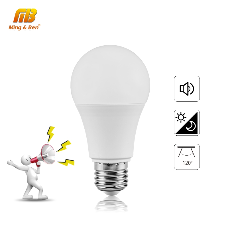 LED Sound Motion Sensor Light 7W 9W 12W E27 LED Induction Lamp 110V 220V White Bulb Light Lampada For Indoor Lighting Bombillas