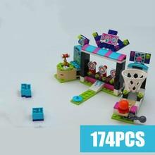 New Friends Machine Shooting Amusement Park fit friends figures city model Building Block Toy kid girls game gift set birthday