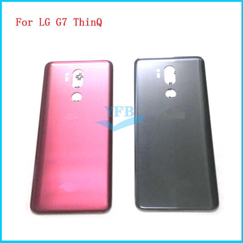 Задняя крышка для LG G7 ThinQ + G710 G710EM корпус стеклянная батареи клейкая наклейка