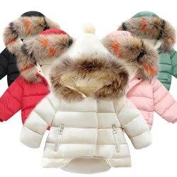 Children Coat Baby Girls winter Coats long sleeve coat girl's warm Baby jacket Winter Outerwear cartoon fleece