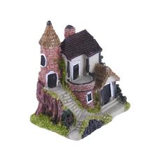 Miniature Figurines Castle House Mini Pendulum Garden Home Decoration Accessories For Birthday Gifts