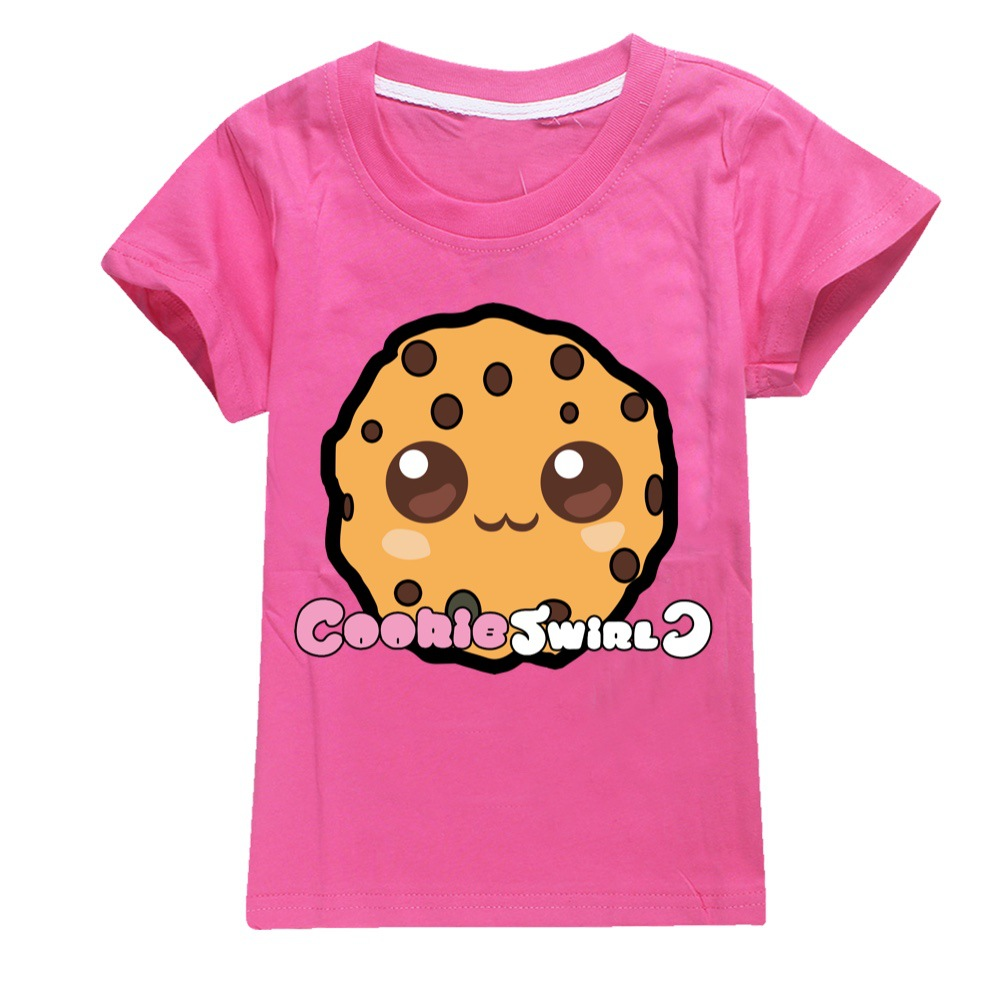 Summer 2Pcs/set Boys Girls Cotton COOKIE SWIRL C T-shirts Children Fashion Clothing Tops Casual Tees Kids Clothes+sunhat 3