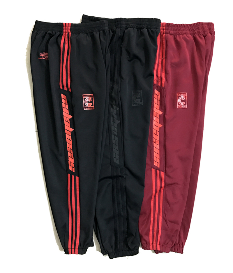 Sports-Pants Trousers Jogging-Season CALABASAS Street Men Stripe Casual Womendrawstring