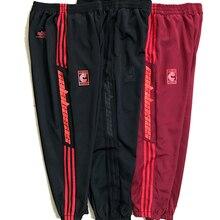 Kanye сезон 6 брюки CALABASAS полосатые спортивные брюки уличные мужские Wo мужские повседневные модные брюки на шнурке для бега 4 три бара