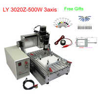 Free gifts 3axis Mini CNC milling machine 3020Z-500W cnc engraving machine for woodwork free tax to RU
