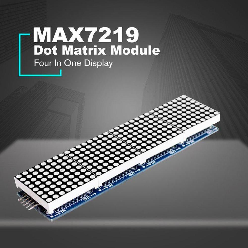 1PCS MAX7219 Dot Matrix Module For Microcontroller 4 In One LED Display With 5P Line MAX7219 Display 8x8 Matrix Red