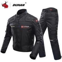 Duhan Motorjas Beschermende Gear Moto Mannen Motocross Off Road Racing Jacket Body Armor + Broek Rijden Kleding Set