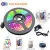 5m 10m 15m RGBW RGBWW RGB LED 스트립 빛 5050 SMD 2835 유연한 리본 Luces Led 빛 스트립 DC12 IR WiFi Contoller + 어댑터 EU