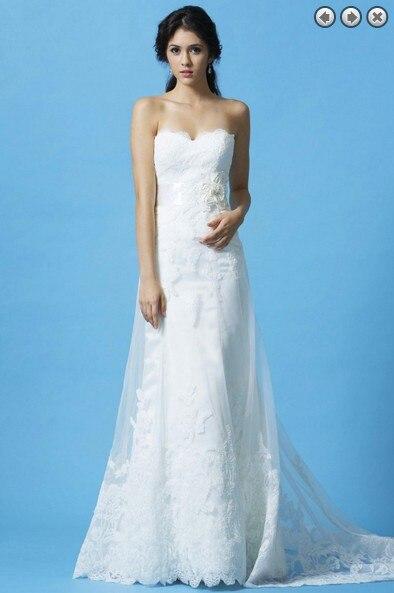 Free Shipping 2016 Vestidos New Woman Dress Designer White Long Bridal Belt Formal Simple Plus Size Lace Wedding Gowns Dresses