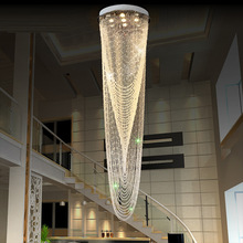 Modern Crystal Bead Curtain Chandelier Round Ceiling Chandelier Lighting Staircase Hanglamp Modern Projects Lighting AC110V 220v