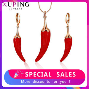 Jewelry-Sets Xuping High-Quality Birthday-Gifts Women Plant for Nice Design 65563/4 Romantic