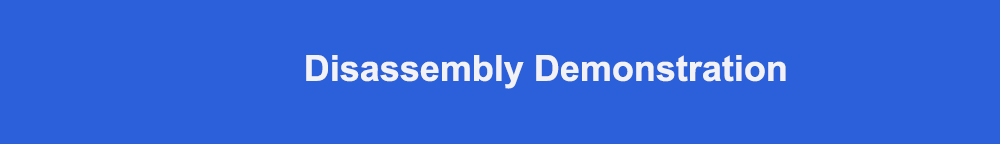 Disassembly demonstration 标题