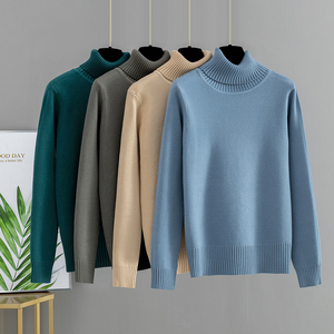 GIGOGOU Basic Women Pullover and Sweaters Autumn Winter Thick Warm Jumper Top Turtleneck Knitted Sweater Pull Femme Hiver