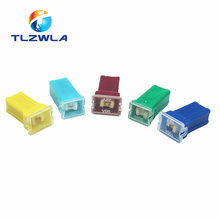 10pcs 20A 25A 30A 40A 50A 60A Insurance Auto Square Fuse Tube for Car Air Conditioning Insurance Fan(China)