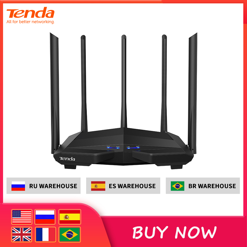 Tenda Wifi-Router Antenna Dual-Band AC1200M High-Gain Wireless Home with Coverage App-Control title=
