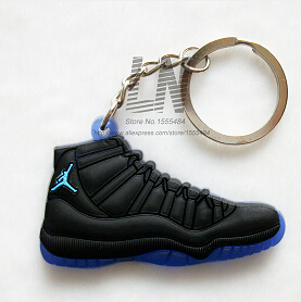 Car Key Chain  Mini Silicone Jordan 11 Keychain Bag Charm Woman Men Kids Key Ring Gifts Sneaker Key Accessories Shoes