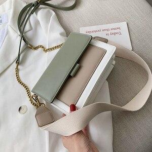Image 2 - ミニ革のクロスボディバッグ女性 2020 グリーンチェーンショルダーバッグシンプルなバッグ女性旅行財布とハンドバッグクロスボディバッグ