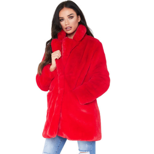 2019 Stylish Women Winter Faux Fur Parka Jacket Warm Long Hooded Thick Outwear Coat Overcoat Cardigan Long Coats Outwear