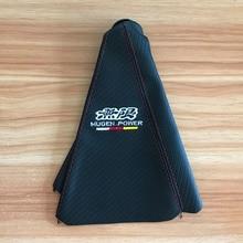 JDM MUGEN Car Shifter Boot Cover Carbon fiber cloth Gear sleeve for Honda Toyota Nissan Mitsubishi Mazda Accessories цена и фото