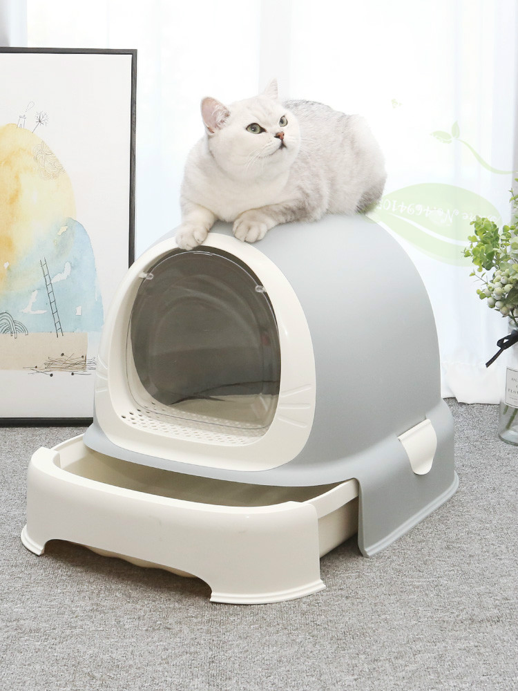 Fully Enclosed Cat Litter Basin Deodorizing Cat Excrement Basin Cat Toilet Litter Anti-splash Large Litter Basin Cat Supplies(China)