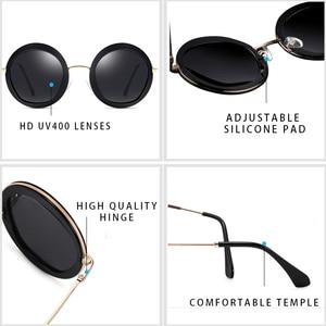 Image 3 - PARZIN 여성 빈티지 편광 선글라스 UV400 럭셔리 브랜드 라운드 태양 안경 여성 유행 안경 운전에 대 한