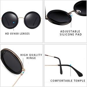 Image 3 - Parzin女性ヴィンテージ偏光サングラスUV400高級ブランドラウンドサングラス女性のための流行のメガネを駆動するための