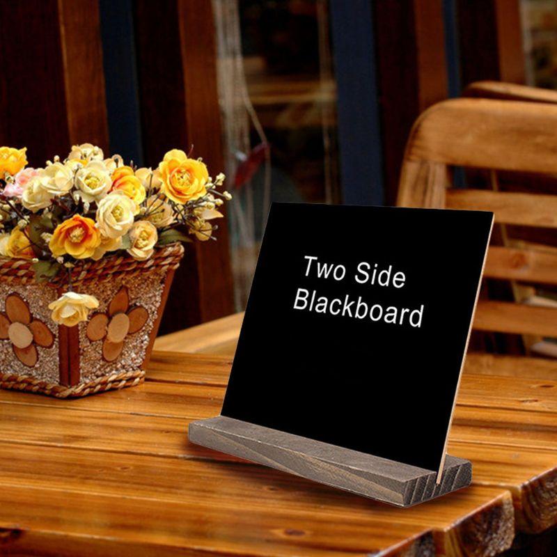 1Set Wood Tabletop Chalkboard Double Sided Blackboard Message Board Children Kids Toy Desktop Signature Blackboard L29k