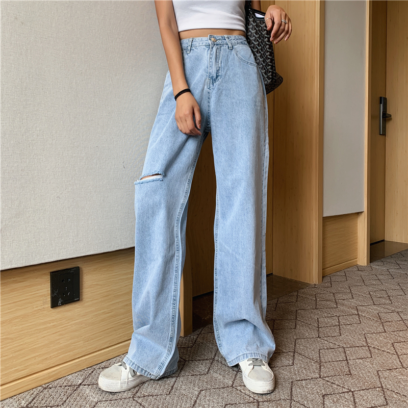 Sexemara Pants Trousers Ankle-Length Solid-Color Straight Fashion Ladies New Loose CPT033