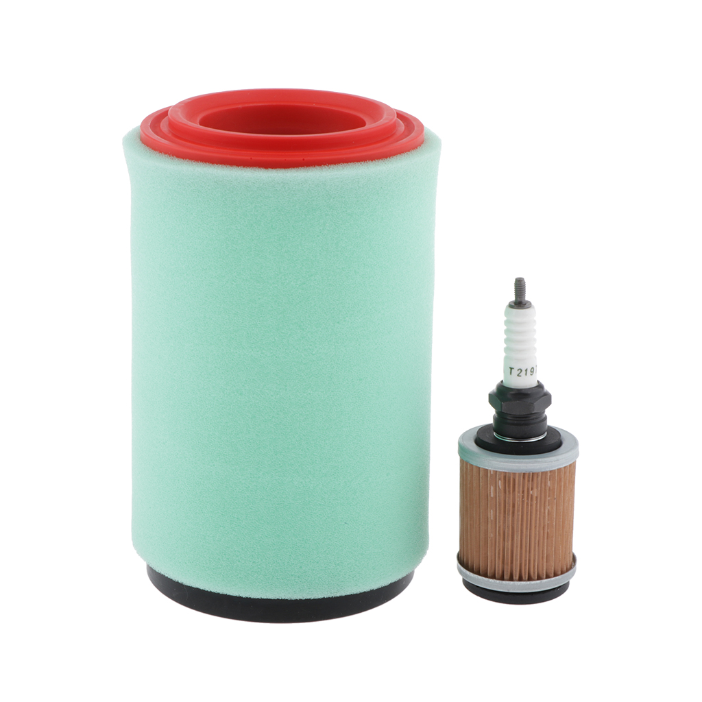 Motorcycle Air Oil Filter Assembly Replacement For Yamaha Big Bear 250 400 Bear Tracker 250 Bru Qin 250 With Spark Plug
