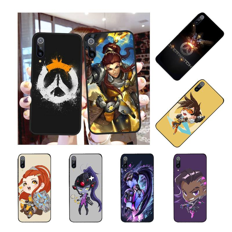 NBDRUICAI Overwatch Phone Case Cover for Redmi Note 8 8A 7 6 6A 5 5A 4 4X 4A Go Pro Plus Prime image