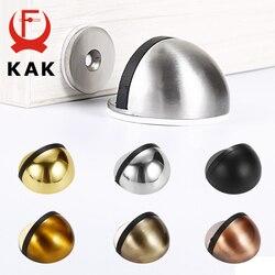 KAK – butoir de porte magnétique en acier inoxydable, autocollant Non poinçonné, noir, supports de porte cachés, loquet, quincaillerie de porte