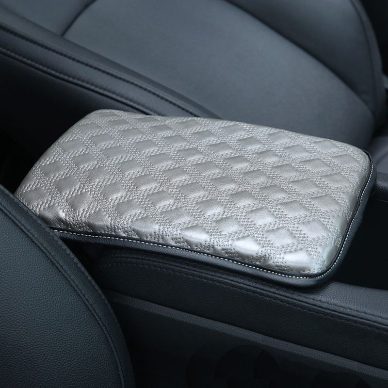 Universal Car Armrest Pad Cover Auto Center Console PU Leather Cushion 30*21cm
