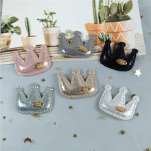 14Pcs Padded Crown With Plate Appliques For Clothes Hat Leggings Sewing Patches DIY Headwear Hair Clips Decor Accessories S-01