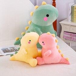 Dinossauro brinquedo de pelúcia boneca dos desenhos animados animais de pelúcia dino para crianças super macio bebê abraço boneca sono travesseiro decoração para casa brinquedos para crianças