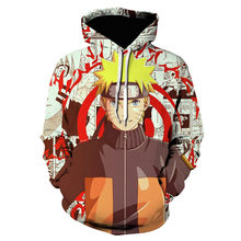 Новые модные толстовки с капюшоном Наруто Узумаки 3d принтом